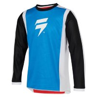 Мотоджерси подростковая Shift Whit3 Race 2 Youth Jersey White/Red/Blue XL (24166-574-XL)