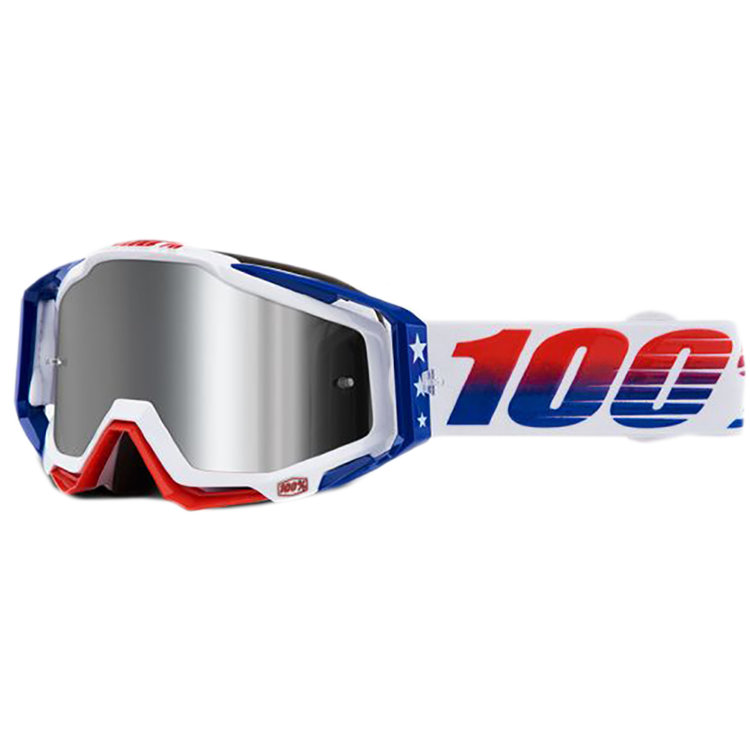 Очки 100% Racecraft Plus LE MXDN Red/White/Blue / Injected Silver Flash Mirror Lens (50120-280-02)